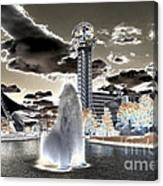 Solarized Infrared City Park Canvas Print