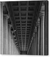 Soldier Field Colonnade Chicago B W B W Canvas Print