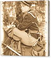 Soldier On Horse Canvas Print