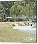 Soldiers Fire A Tow Missile Canvas Print