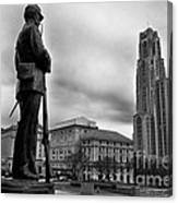 Soldiers Memorial And Cathedral Of Learning Canvas Print