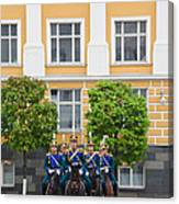 Soldiers Of The Presidential Regimental Canvas Print