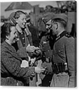 Soldiers Receive Gifts From Austrian Canvas Print