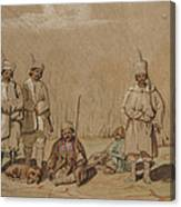 Soldiers Relaxing, 1844 Wc & Gouache On Paper Canvas Print