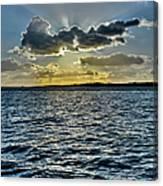 Solent Sun Rays Canvas Print