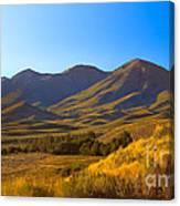 Solider Mountain Shadows Canvas Print