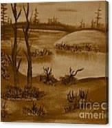 Solitude Of Winter Canvas Print