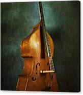 Solo Upright Bass Canvas Print