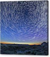 Solstice Star Trails At Dinosaur Park Canvas Print