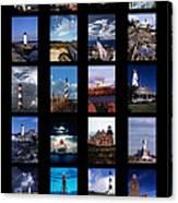 Some East Coast Lighthouses Canvas Print