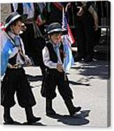 Some Young Italian Boys Marching In The St. Patrick Old Cathedral Parade Canvas Print