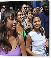 Some Young Ladies Enjoying The 2009 Cleansing Of 46th Street Canvas Print
