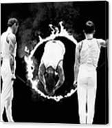 Somersault Through Flames Canvas Print
