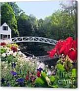 Somesville Bridge And Home Canvas Print