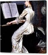 Song Without Words, Piano Player, 1880 Canvas Print