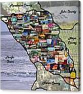 Sonoma County Collage Canvas Print