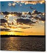Sooner Lake Sunset Canvas Print