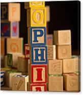 Sophia - Alphabet Blocks Canvas Print