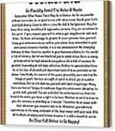 Sophistcated Medieval Style Desiderata Canvas Print