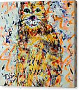 Sophisticated Cat 3 Canvas Print