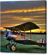 Sopwith Sunset Canvas Print