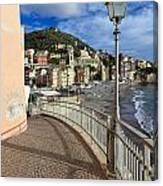Sori - Sea And Promenade Canvas Print