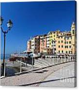 Sori Waterfront. Italy Canvas Print