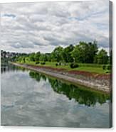 Sorpe Dam Panorama Canvas Print