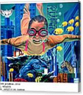 Sosial Aquarium Canvas Print