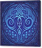 Soul Mates - Blue Canvas Print