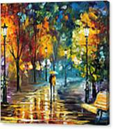 Soul Of The Rain - Palette Knife Oil Painting On Canvas By Leonid Afremov Canvas Print