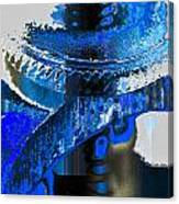 Sounder In Blue Canvas Print