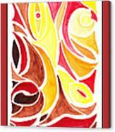 Sounds Of Color Doodle 2 Canvas Print