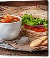 Soup And Sandwich Canvas Print
