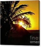 Sour Sunset Canvas Print