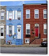South Baltimore Row Homes Canvas Print