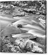 South Boulder Creek Little Waterfalls Rollinsville Bw Canvas Print