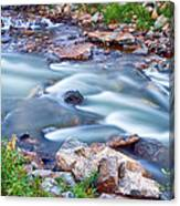 South Boulder Creek Little Waterfalls Rollinsville Canvas Print