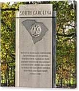 South Carolina At Gettysburg - Close 1 Canvas Print