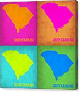 South Carolina Pop Art Map 1 Canvas Print