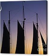 South Carolina Schooner Sunset Canvas Print