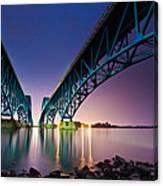 South Grand Island Bridge Canvas Print