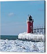 South Haven Ice Canvas Print