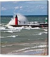 South Haven Splash Canvas Print