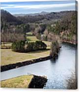 South Holston Dam View Canvas Print