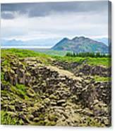 South Iceland Landscape Pingvellir Canvas Print