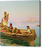 South Italian Fishing Scene Canvas Print