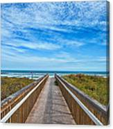 South Padre Island Walkway Canvas Print