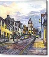 Nightfall At South Queensferry Edinburgh Scotland At Dusk Canvas Print