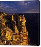 South Rim Grand Canyon Taken Near Mather Point Sunrise Light On  Canvas Print